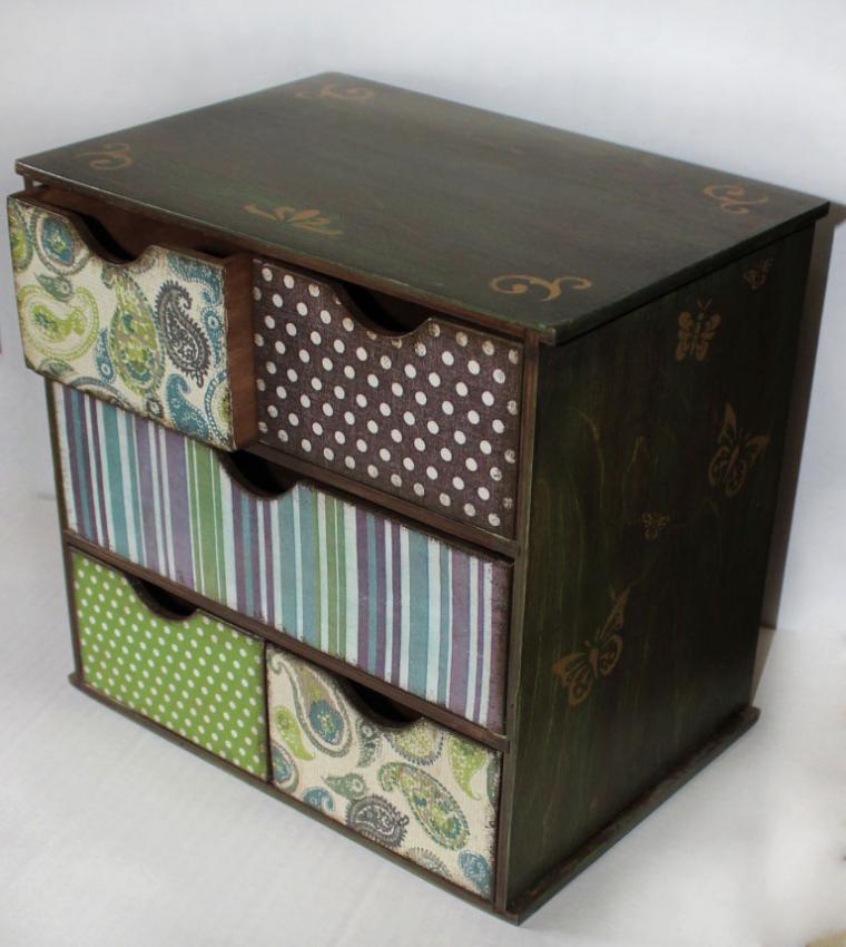 мини-комод, комод для бижутерии, мебель декупаж, шкатулка для мелочей, набор для рукодельницы
