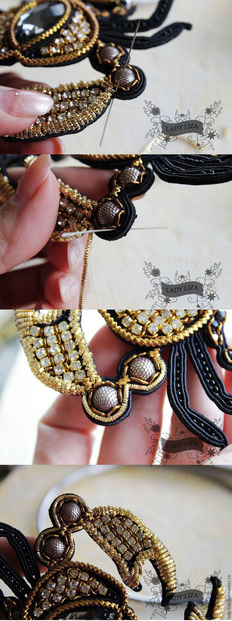 Мастер класс: Вышивка броши Королевский краб.