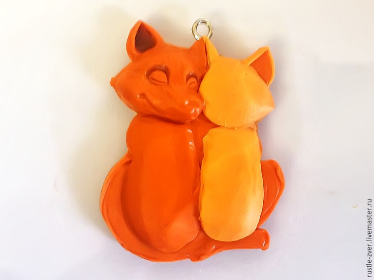 Modeling A Pendant Foxes in Love, фото № 15