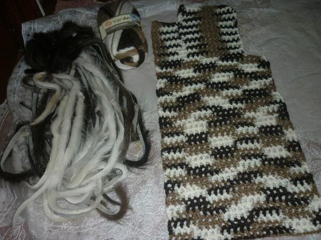 Плетение мехом сетке