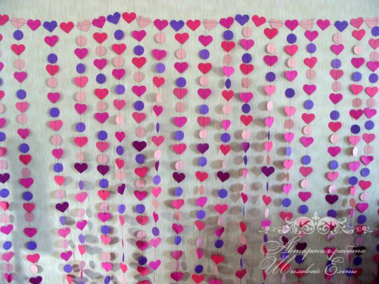 Гирлянды сердечками из бумаги своими руками 87