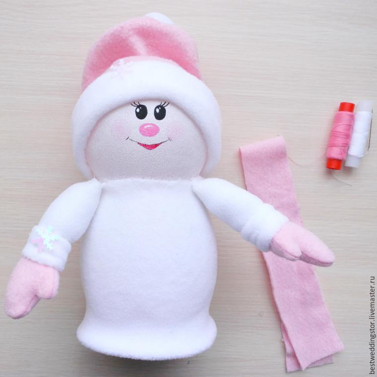 Как сделать своими руками снеговика из флиса