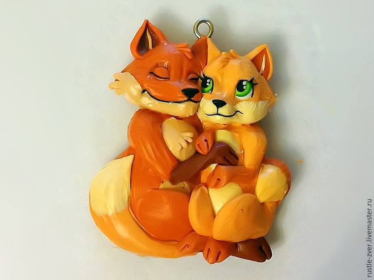 Modeling A Pendant Foxes in Love, фото № 26