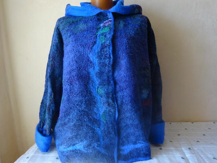 валяный жакет, шерстяная куртка