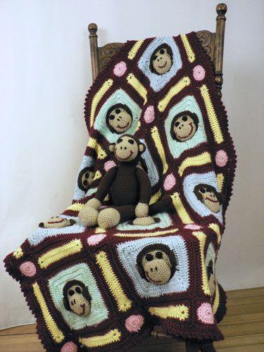 Caron International Yarns Monkey Blanket free crochet pattern
