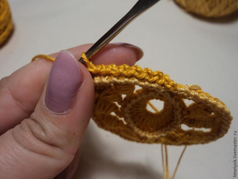爱尔兰花边钩针教程:一片郁郁葱葱的三维小树叶(大师班) - maomao - 我随心动