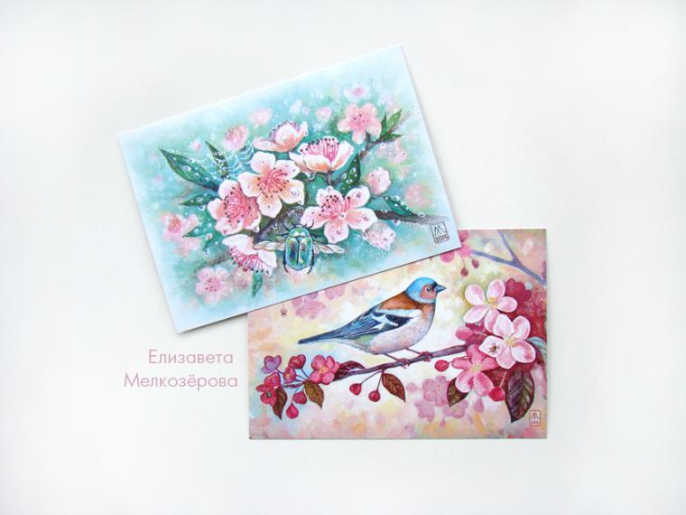 открытка, цветы