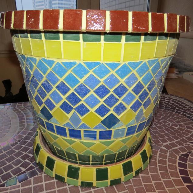 мозаика, обеденный стол, веранда