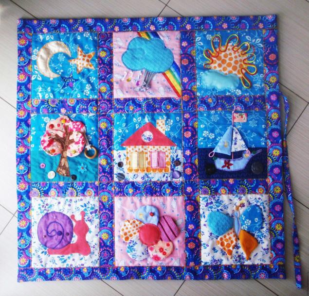 Развивающиеся коврики для детей своими руками