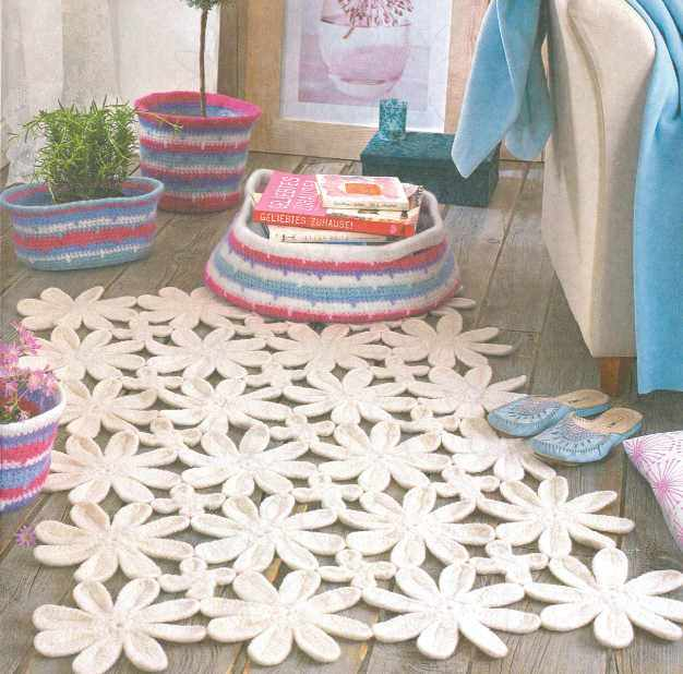 Вяжем коврики для ванной