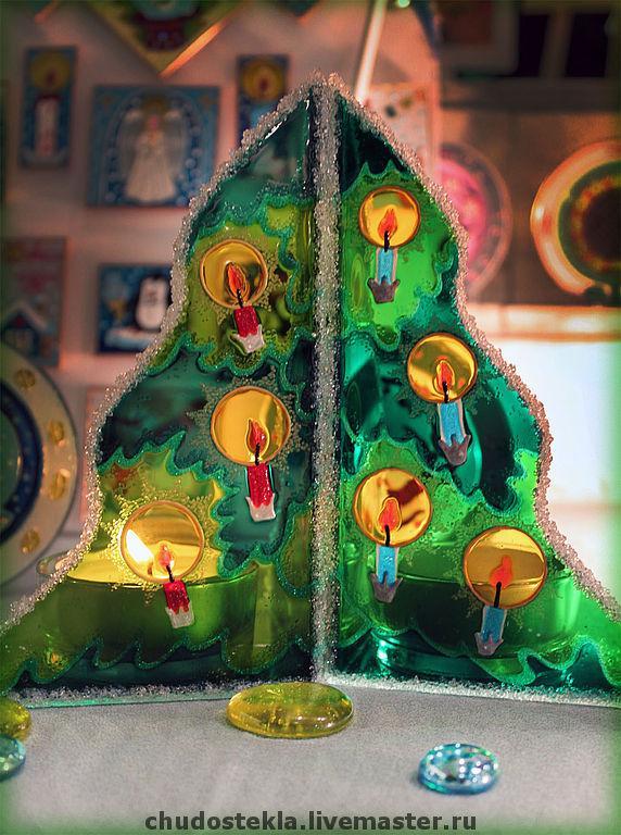 елка, елочка, подсвечник, свеча, новый год 2014, рождество, подарок 2014