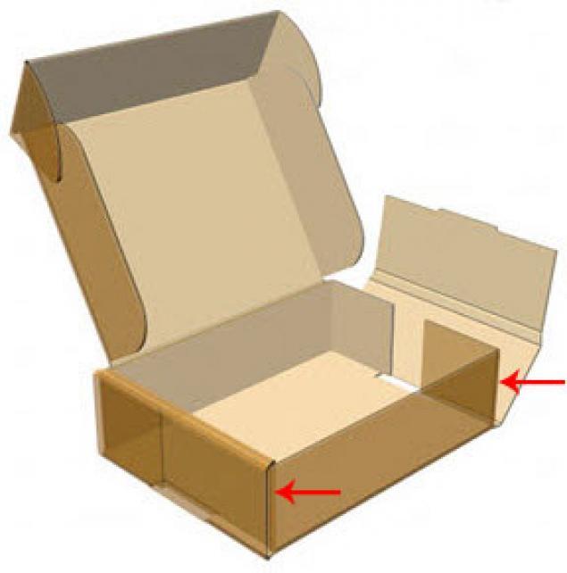 Обычная коробка из картона