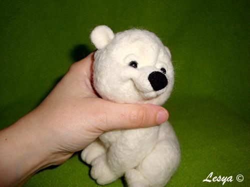 Мастер-класс по валянию игрушки медвежонка этап 48