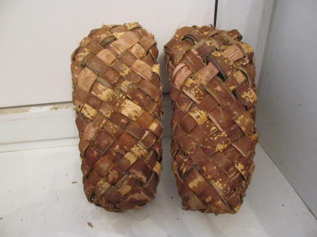woven bark shoes