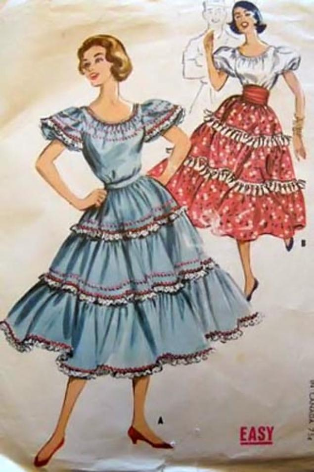 Выкройки платьев 60 х годов - Эксклюзивные новости.