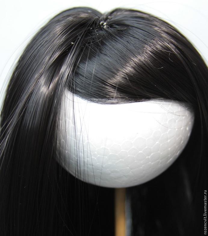 Как сделать волосы кукле из трессов