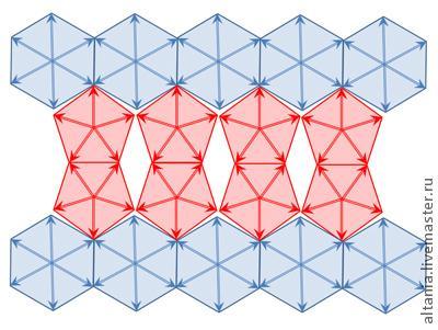 钩针编织五角形杯垫图解