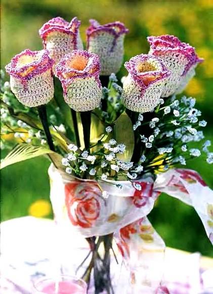 тюльпан. 0. вязание