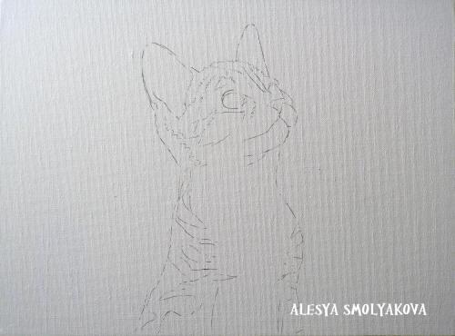 картина с котенком
