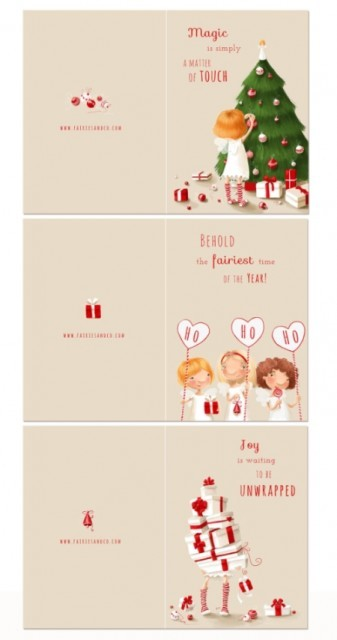 3 Holiday Fairy Greeting Cards