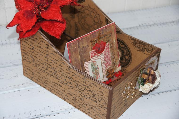 короб, коробочка, хранение, открытки, картонаж, шкатулка, скрапбукинг, скрап