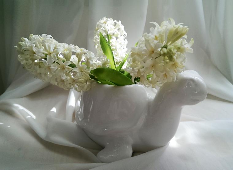цветы из фимо, весна