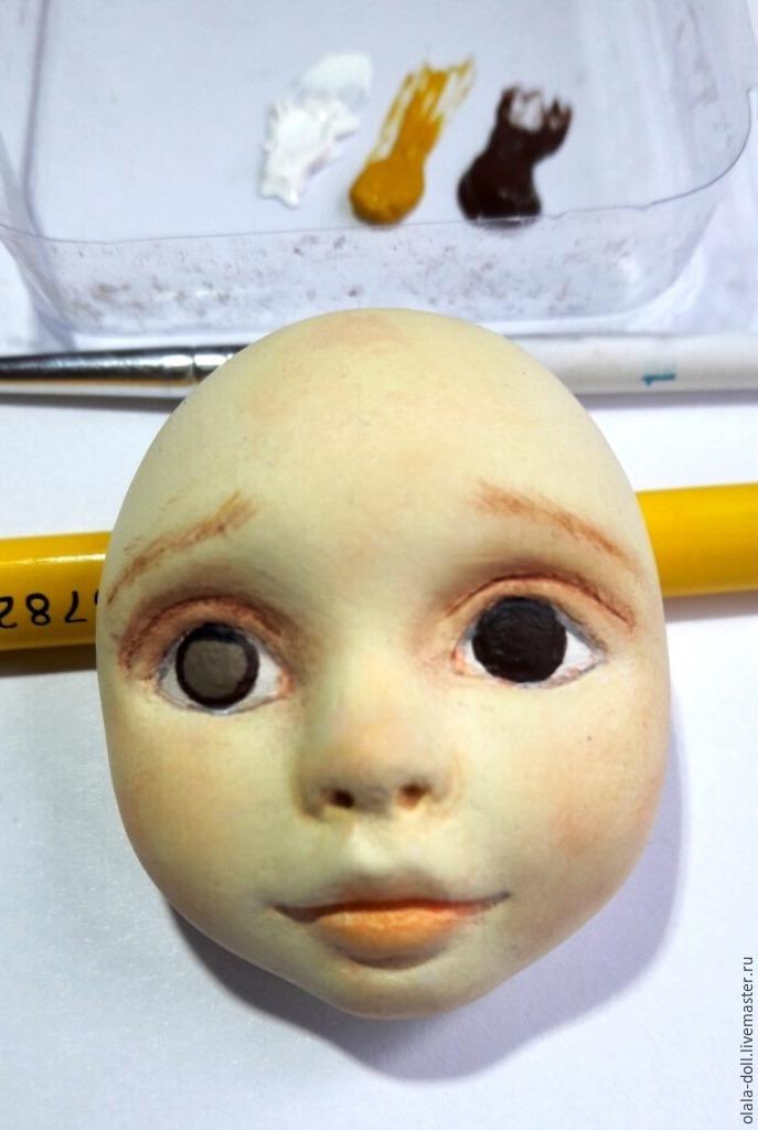 Роспись кукол из пластика