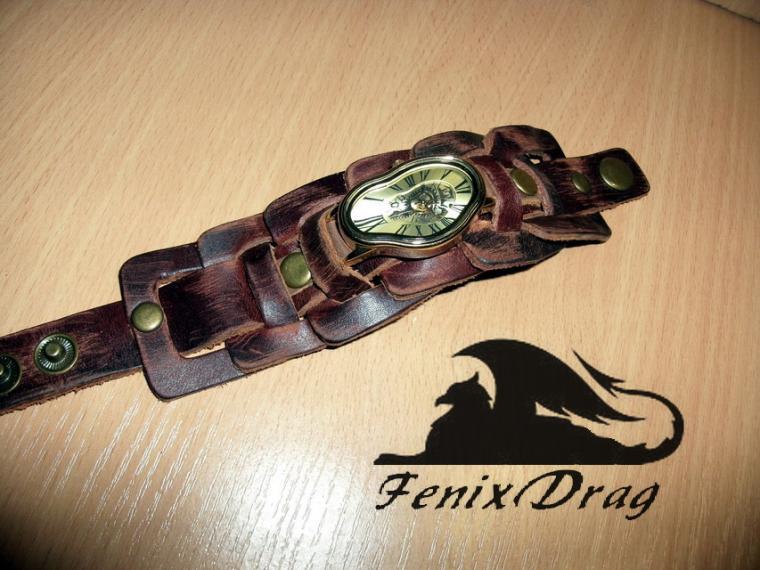 аксессуар, кожаный браслет