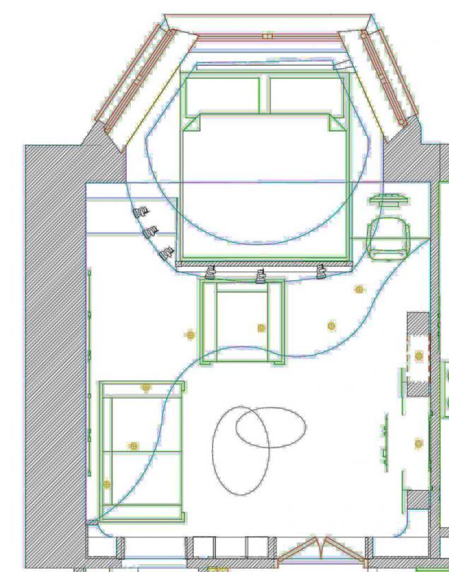 Дизайн зала с эркером
