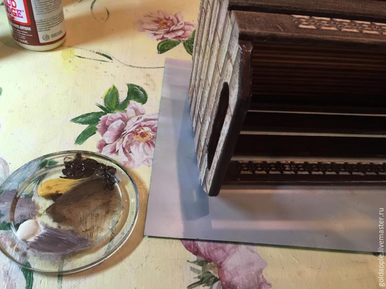 Мастер-класс: кухонный ящик под старину
