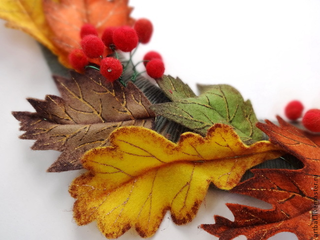 DIY Autumn Wreath Without Felting, фото № 18
