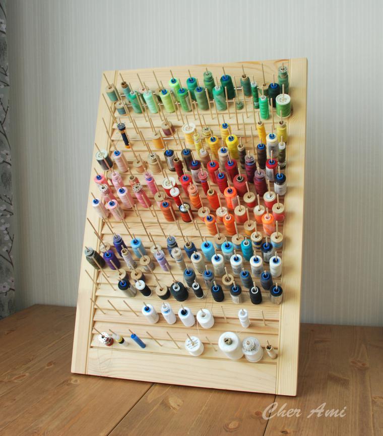 Хранение шпулек с нитками