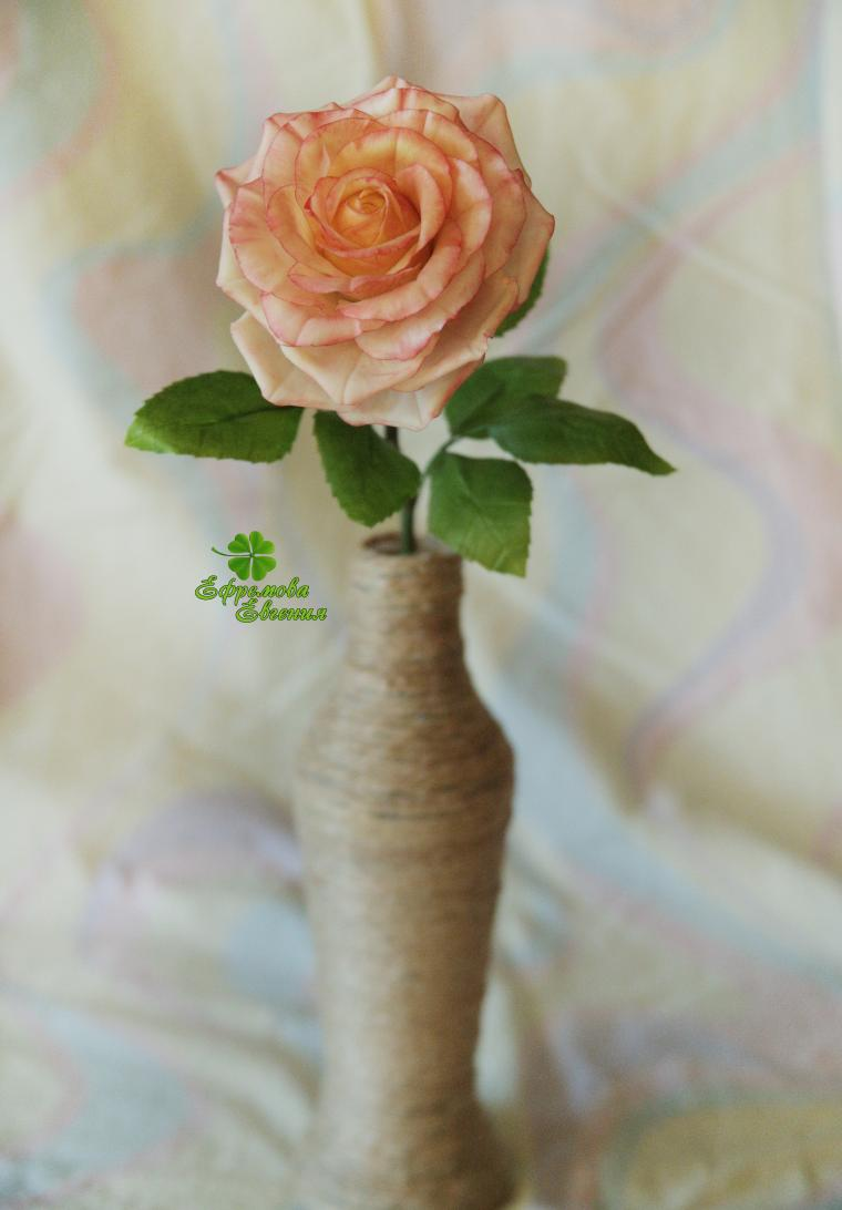 цветы из полимерной глины, ручная работа
