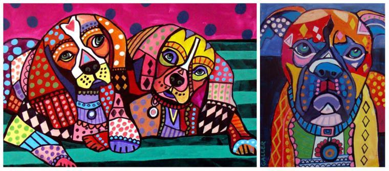 Психоделические собаки Heather Galler: невероятно яркие картины американской художницы, фото № 5