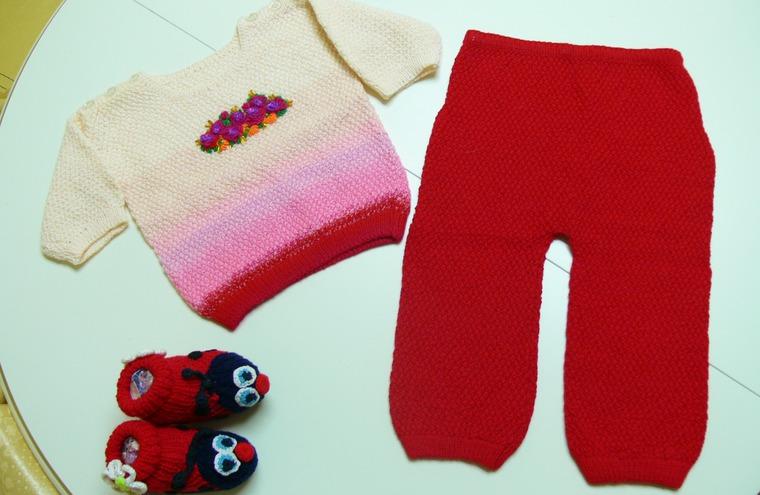 вязаный комплект, кофта вязаная, красивый подарок, вязание для новорожденных