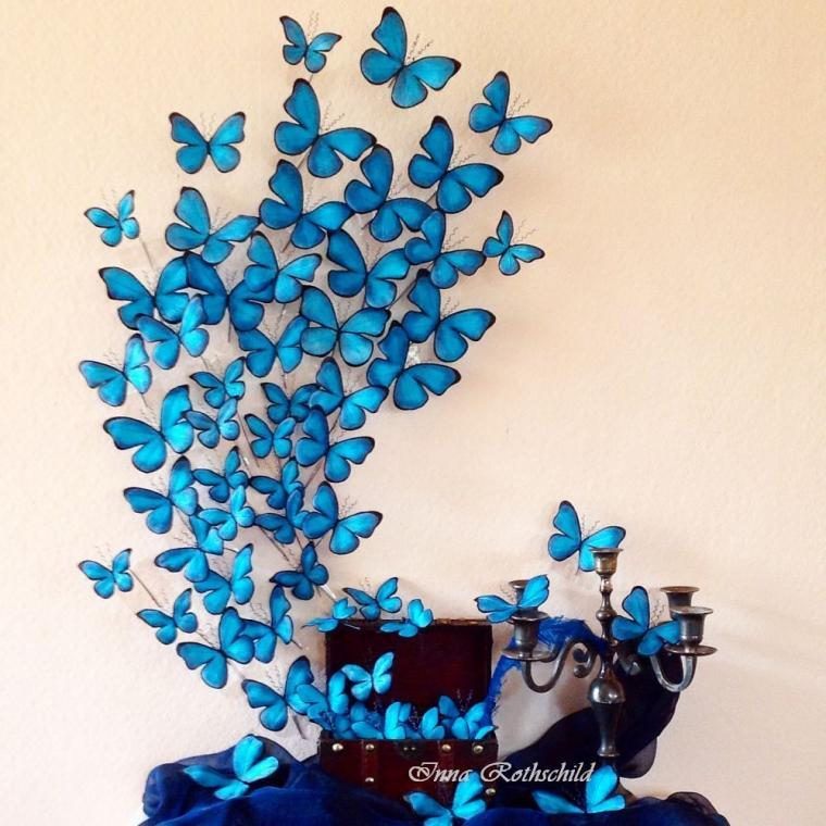 шелковые бабочки