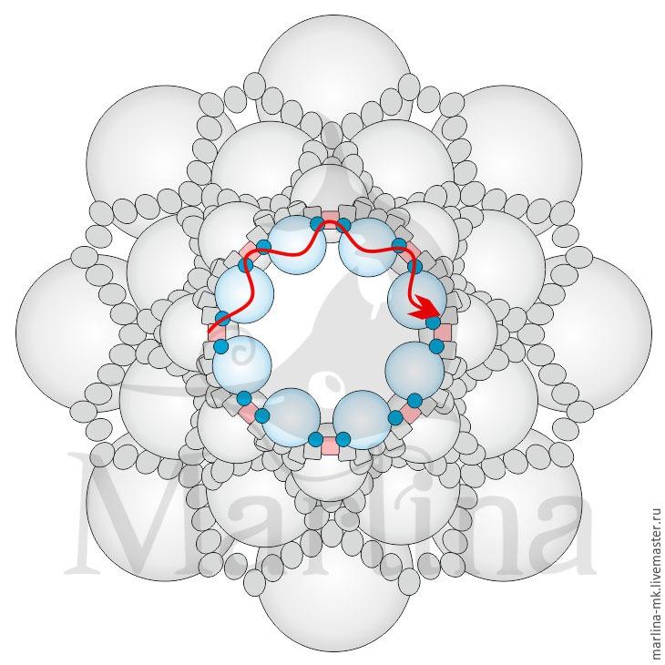 Jellyfish Pendant DIY with Pearls and Swarovski Crystals, фото № 18
