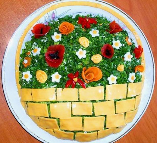 Как украсить салаты на праздничный стол рецепты