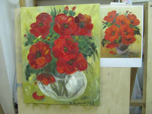 мастер-класс по живописи, живопись
