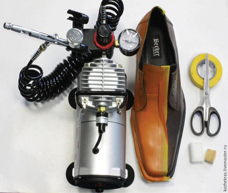 Преображаем туфли с помощью акриловых красителей, фото № 5