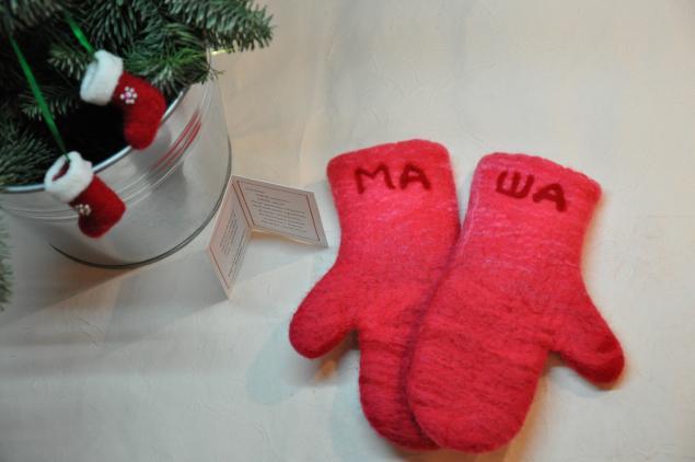 варежки из шерсти, подарок, зима, новый год 2014, шерстяные варежки