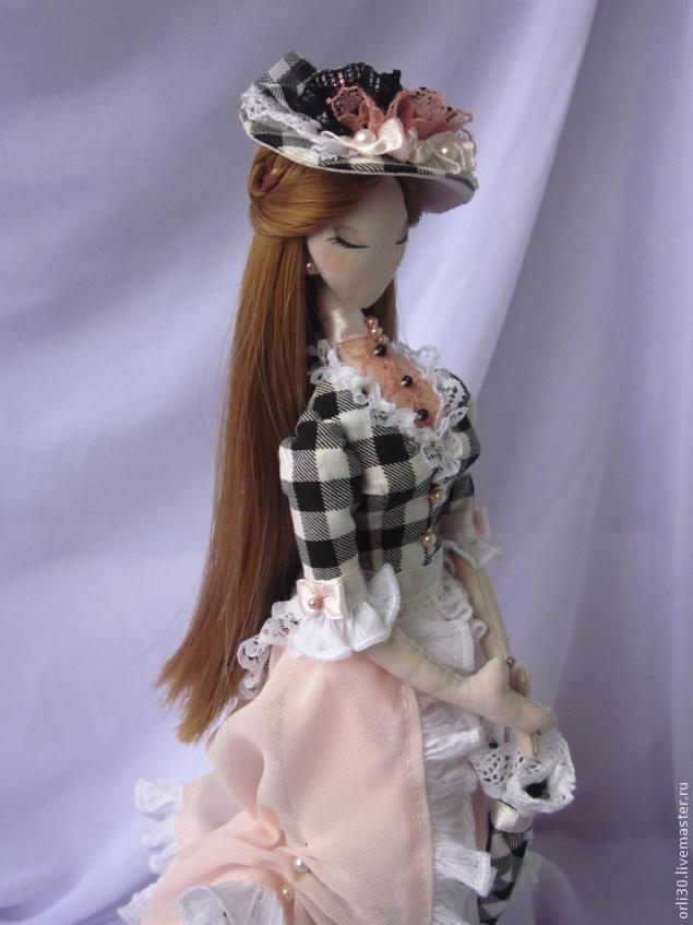Шляпки для кукол мастер класс подробно #8