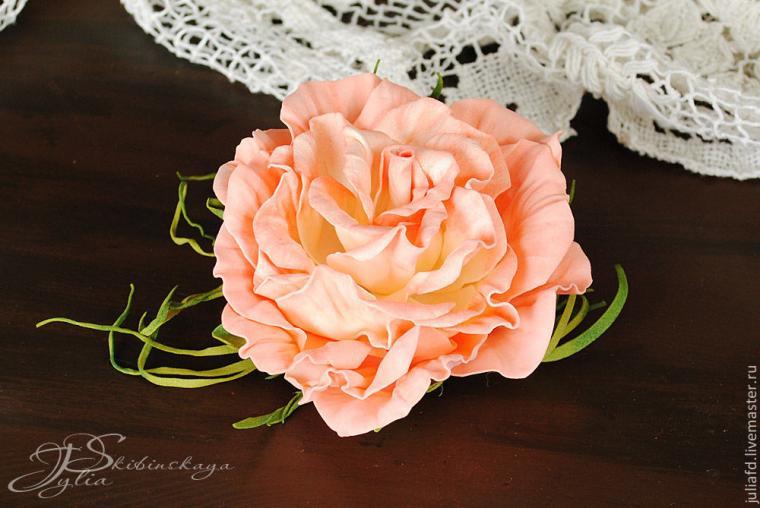 мк фоамиран, роза из фоамирана