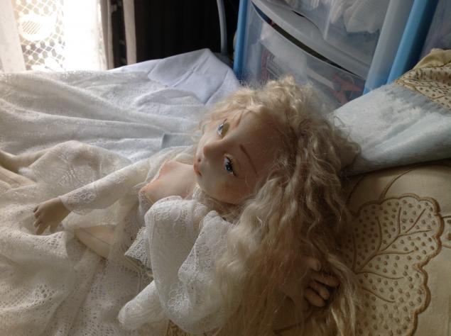 текстильная кукла, пастельные тона