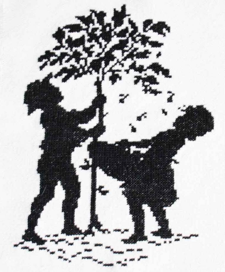 яблоня, фермуар
