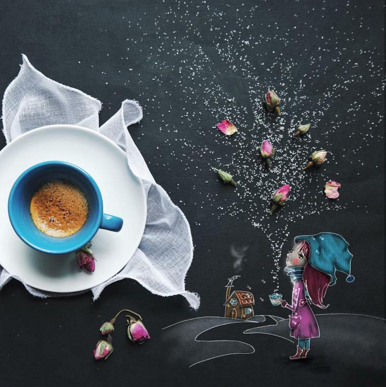 можно кофе открытка креатив найти