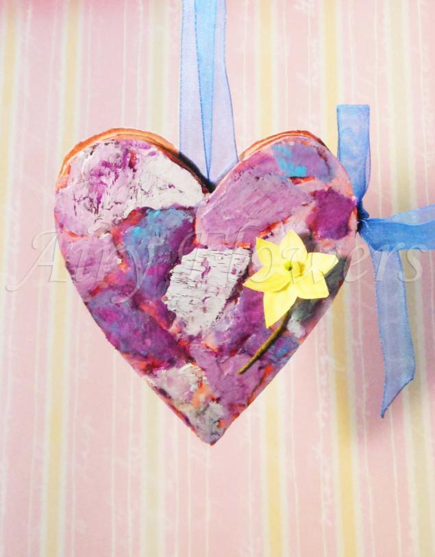 сердечки, валентинка, любовь, ленты, вдохновение