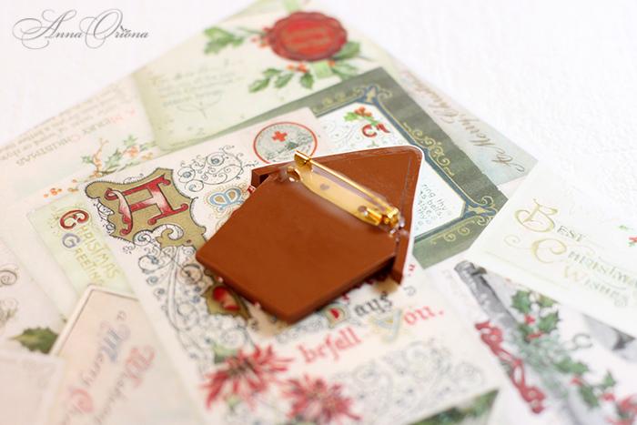 мк лепки из пластики, подарки к новому году, коричневый