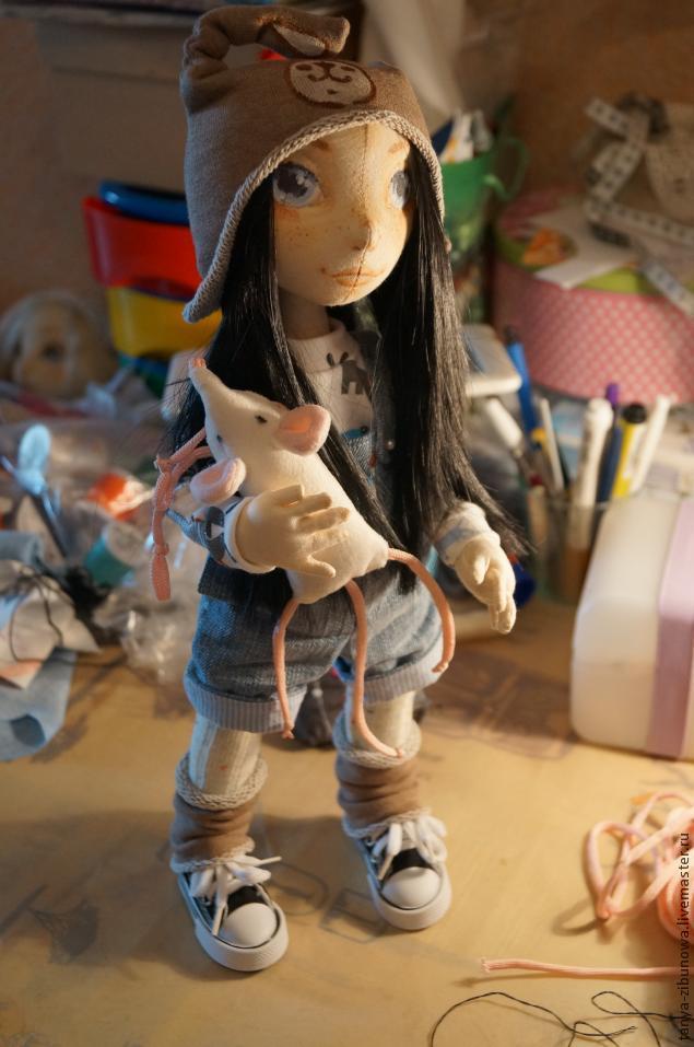 Создание текстильной куклы Лорочки. Часть 1, фото № 21