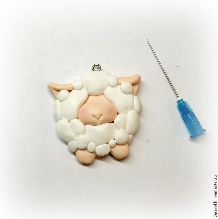 Как слепить простую овечку из полимерной глины. МК Марины Харькиной